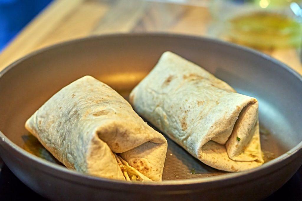 Burrito on the stove