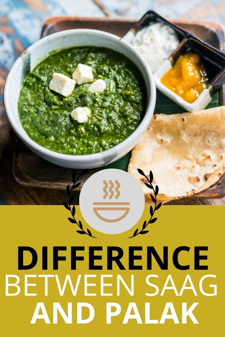 difference between saag and palak