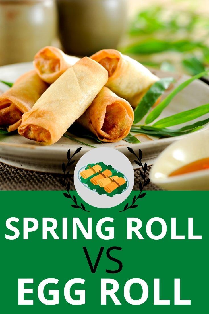 spring roll vs egg roll