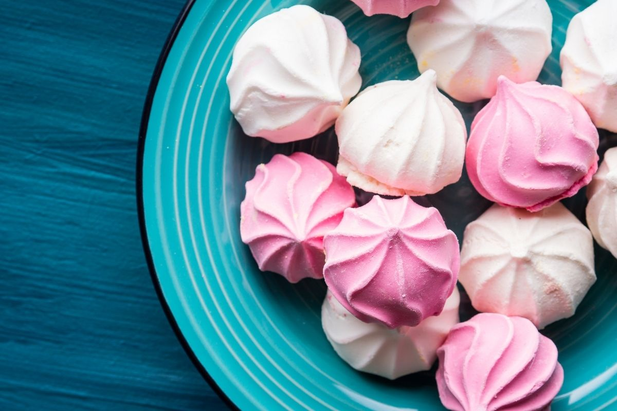 White and Pink Meringue
