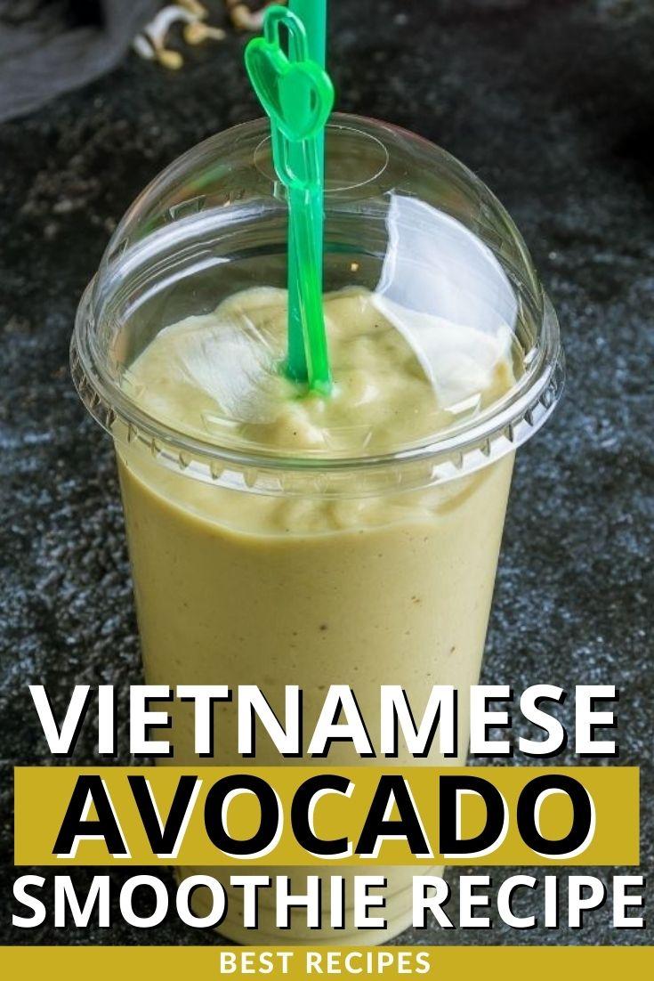 Vietnamese Avocado Smoothie Recipe