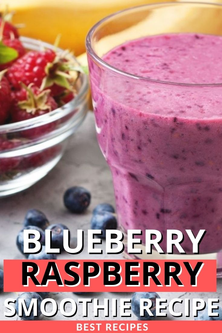 Healthy Blueberry Raspberry Smoothie Recipe