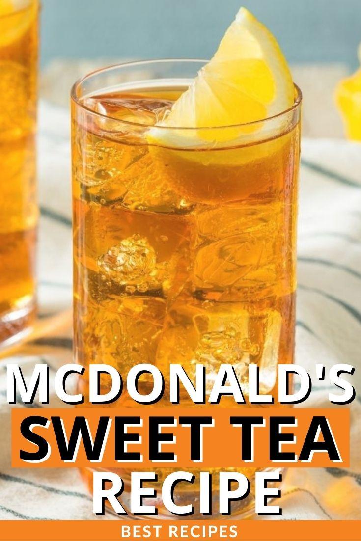 McDonald's Sweet Tea Recipe