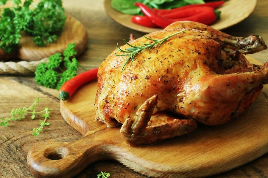 Roast Chicken - What to Serve with Potato Pancakes