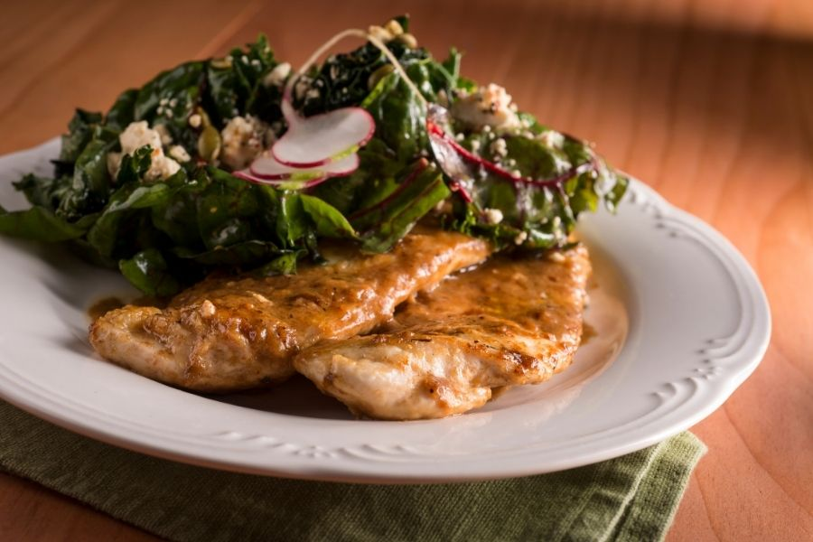 Sauteed Spinach -What to Serve with Chicken Piccata