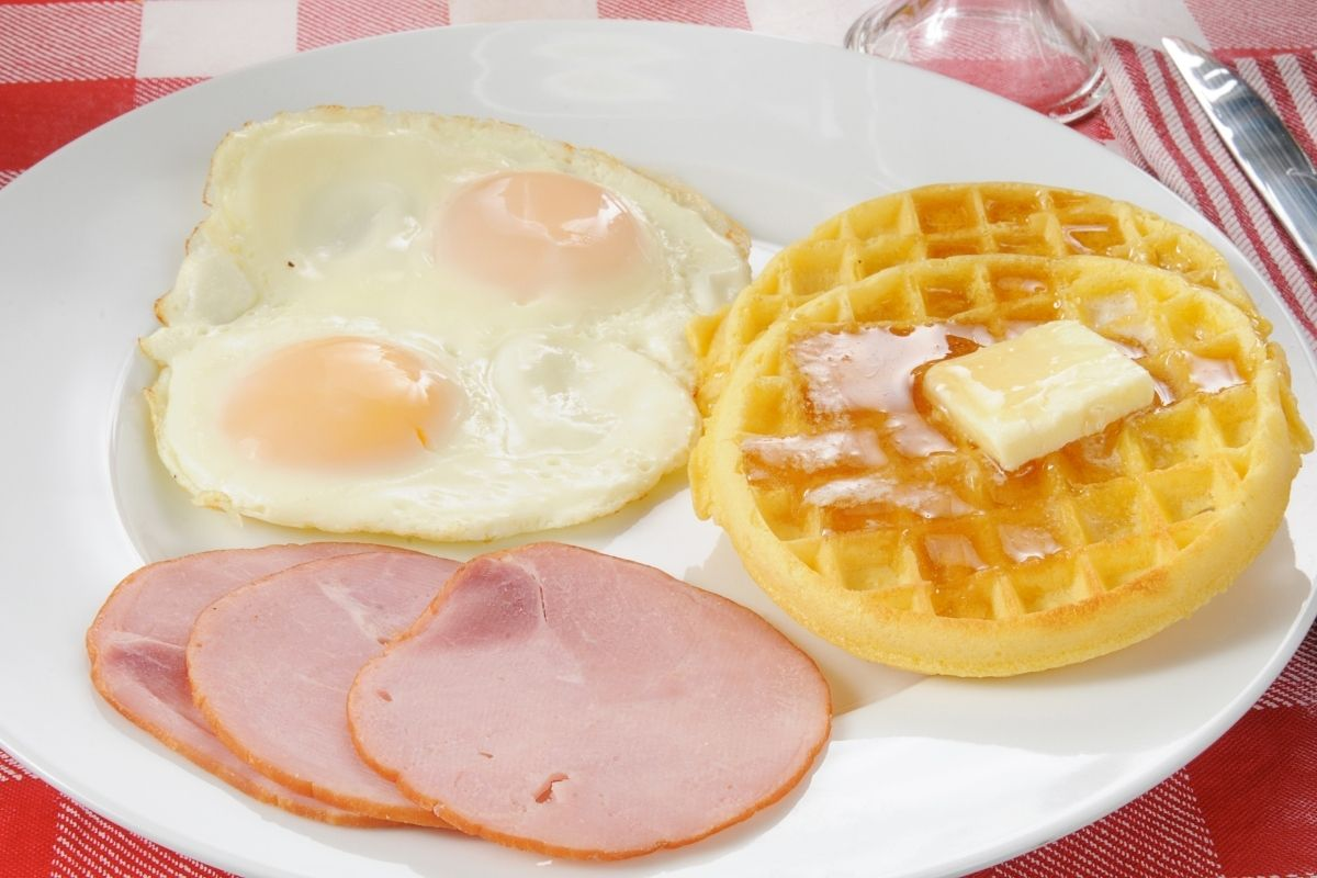 Waffles and Eggs