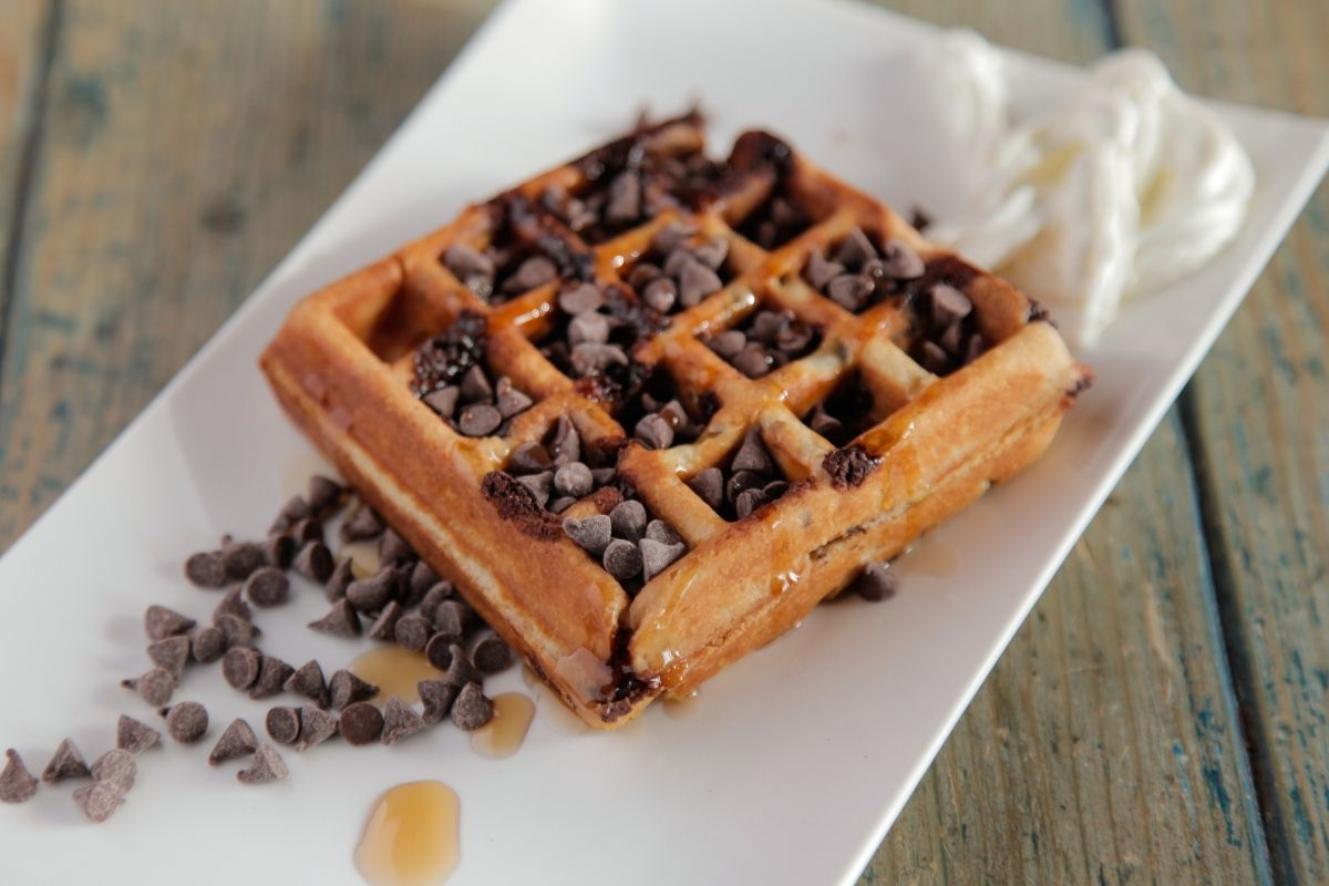 Chocolate Chips with Waffles