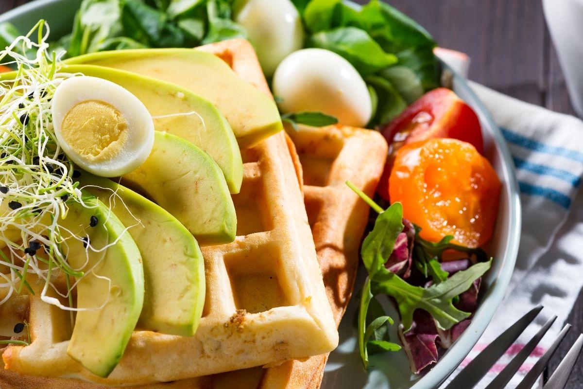Waffles with Avocado