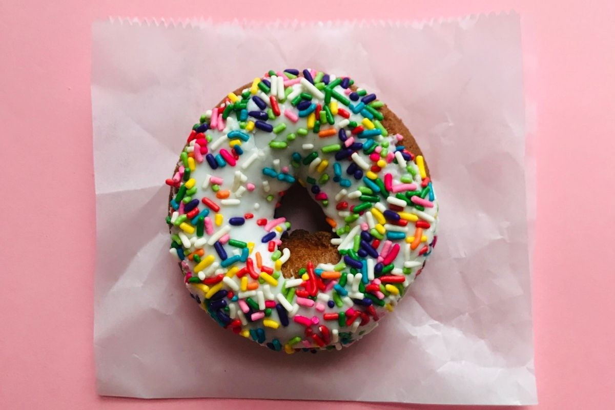 Donut on Wax Paper