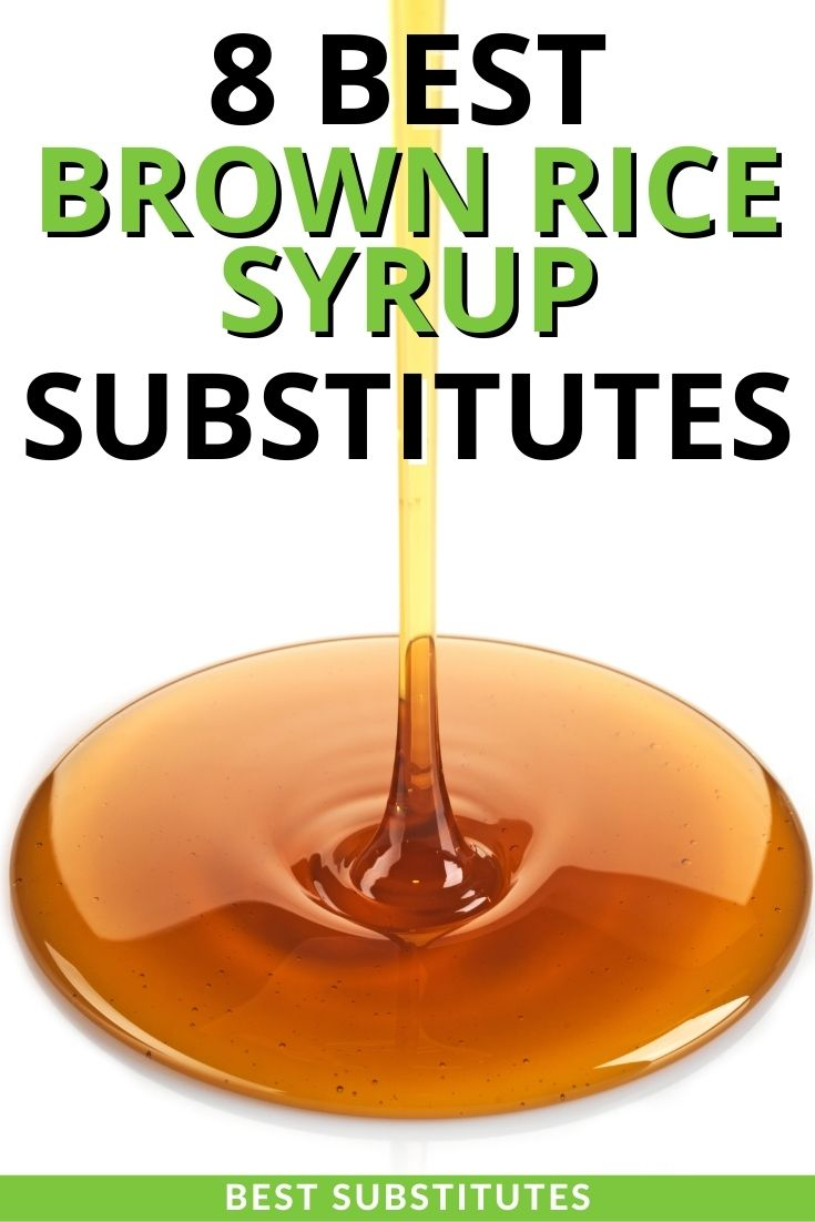 Brown Rice Syrup Substitutes