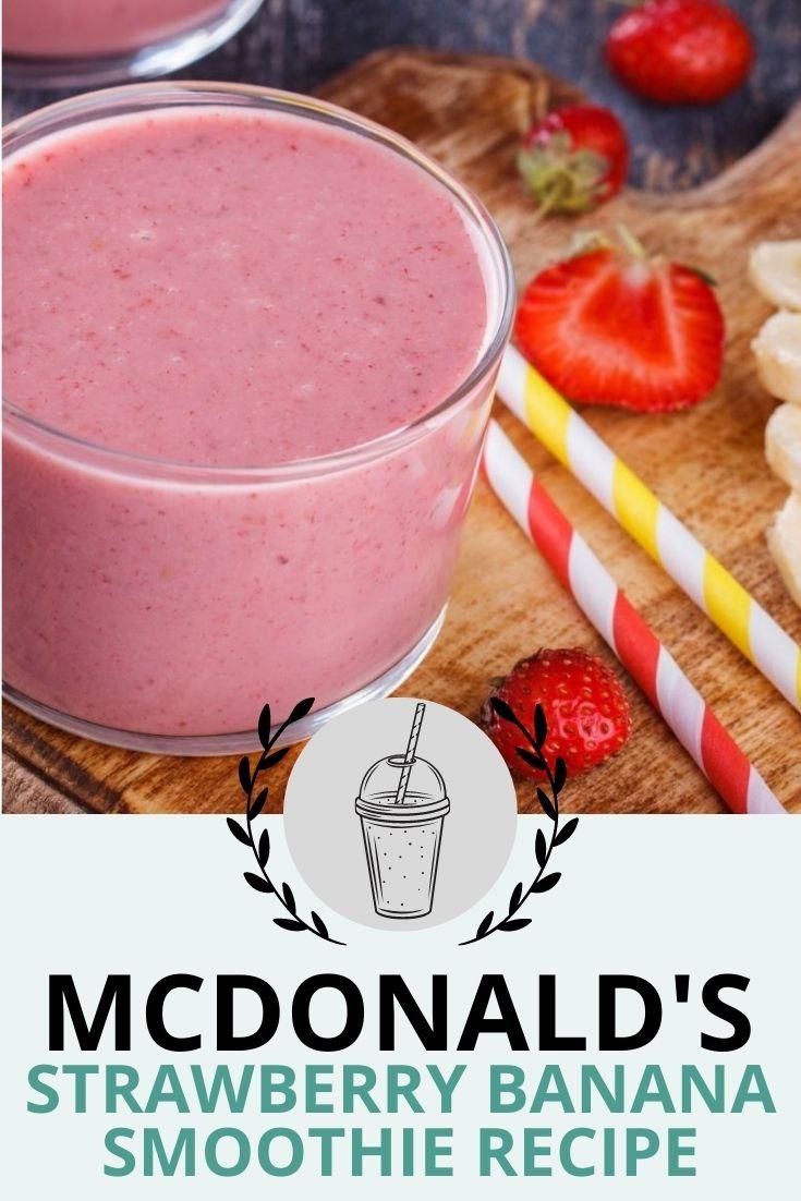McDonald's Strawberry Banana Smoothie Recipe
