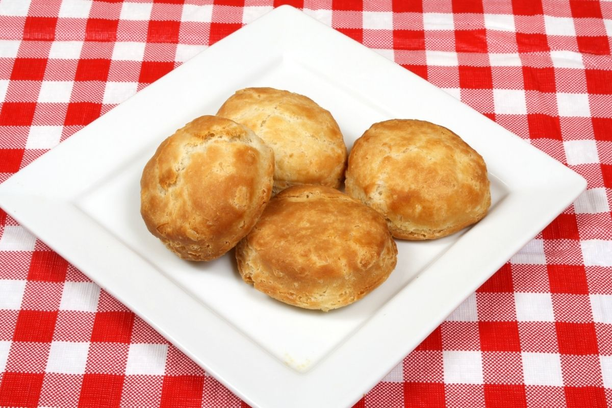 Biscuits on a microwaveable Plate