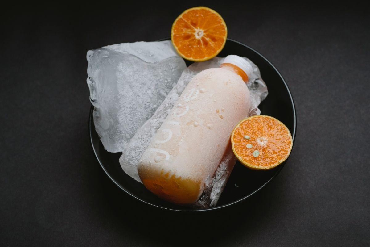 Freeze Orange Juice Bottle