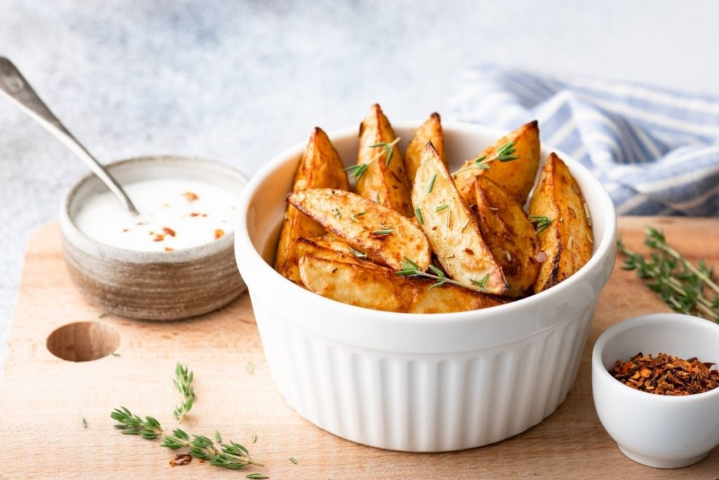 Baked Potato Wedges - Sides For Meatball Subs