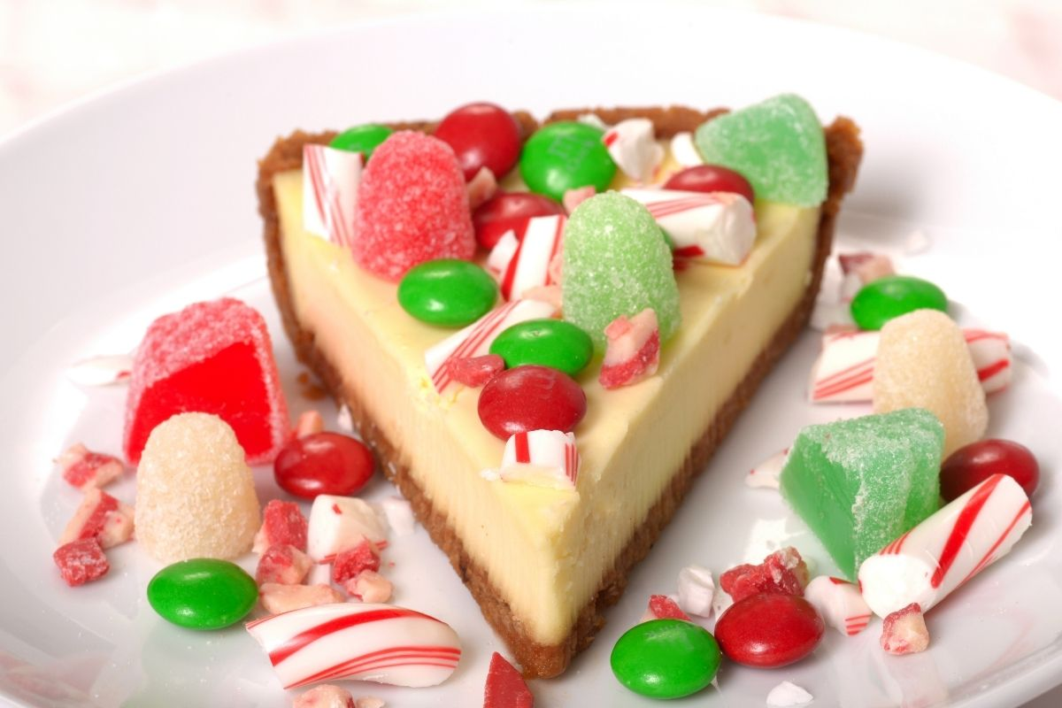 Cheesecake with Candy Toppings