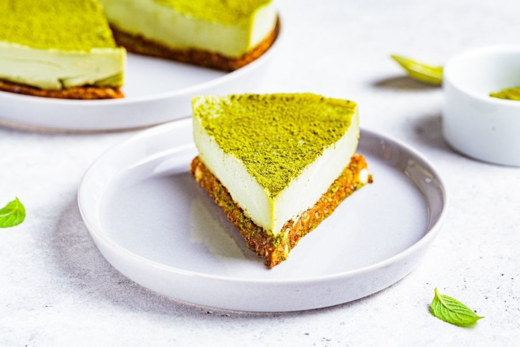 Matcha on top of Cheesecake