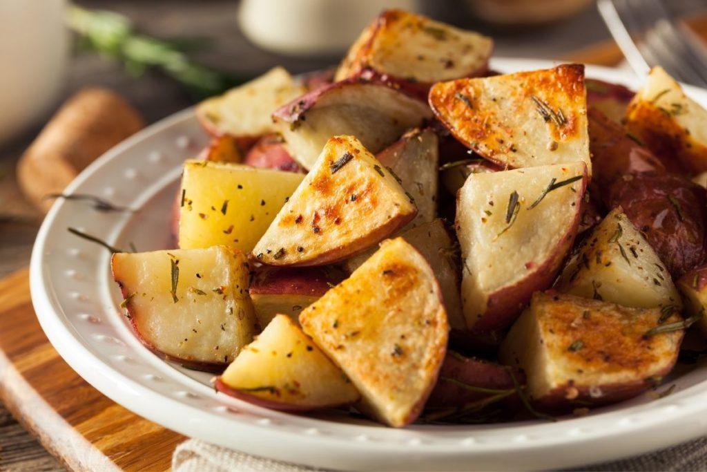 Red Roasted Potatoes - What to serve with meatballs