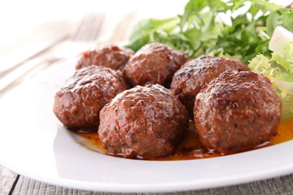 Side Salad with Meatballs