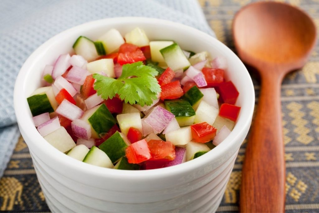 Kachumber Salad - Side Dishes for Curry Chicken