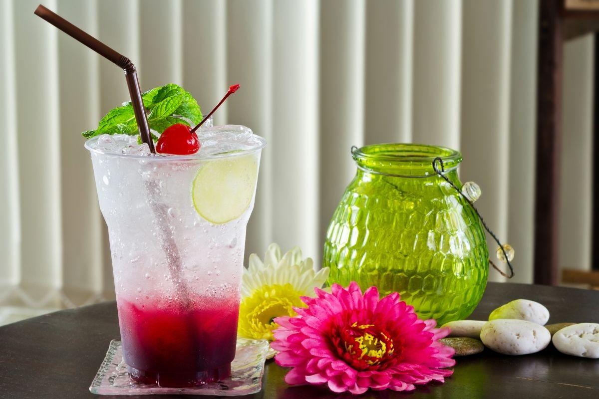 Cherry Flavored Italian Soda