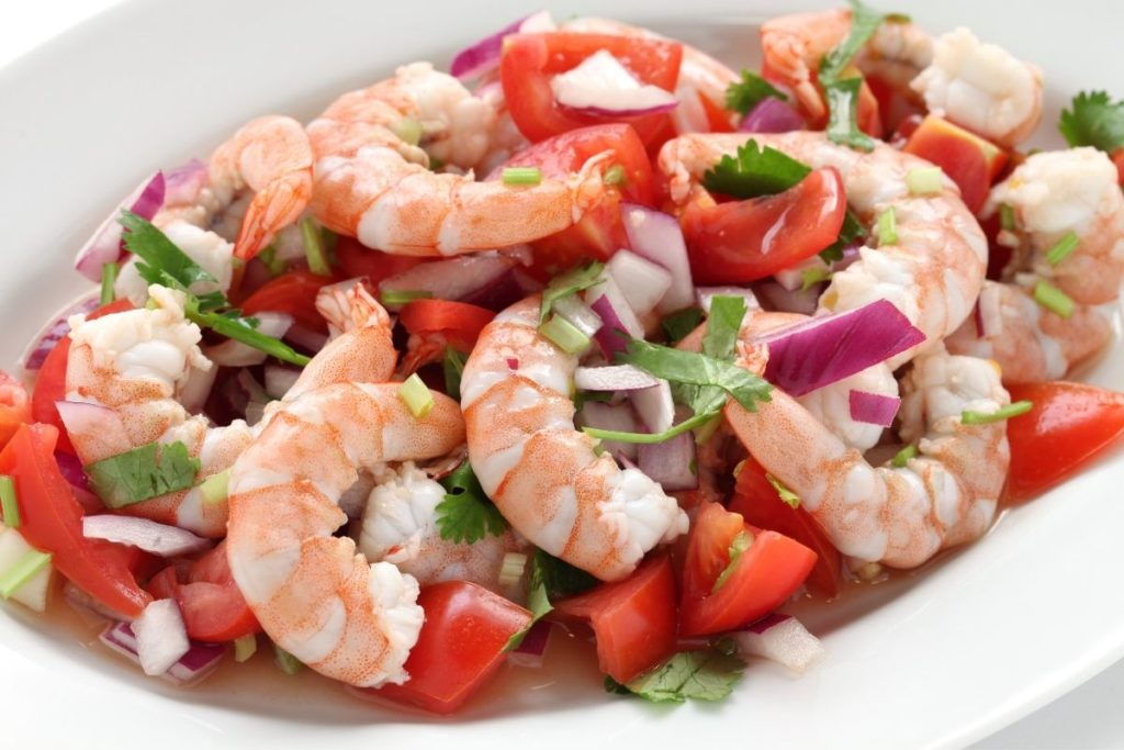 Shrimp Ceviche - What To Eat With Tomato Soup