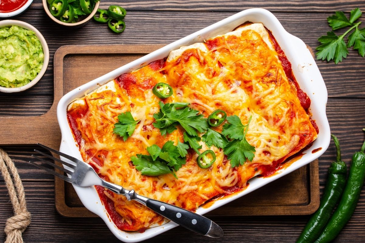 How to reheat enchiladas using oven